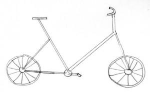 Mon premier dessin : une bicyclette au crayon