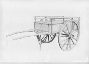 dessin d'une charrette avec le remplissage