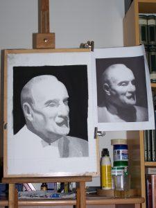 mon dessin à côté de la photo d'origine