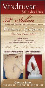 Affiche de l'exposition du 32 ème salon de Vendeuvre