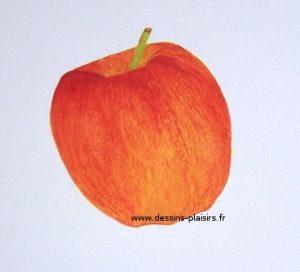 peinture à la gouache d'une pomme Gala