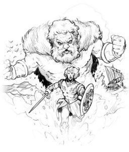 Dessin de Vincent Dutrait : Hercule