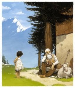 Peinture pour le livre Heidi