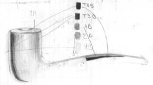 vignette d'une pipe pour varation de gris