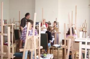 photo de l'atelier avec notre professeur