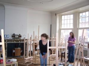 Photo de la salle de travail de l'ateierde peinture