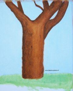 Illustration à l'huile d'un arbre