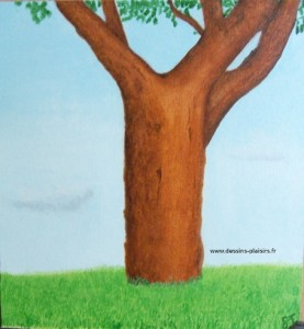 Illustration final d'un arbre. Peinture à l'huile