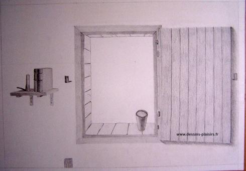 Illustration d 39 une fen tre 2 dessins plaisirs - Chambre en perspective facile ...