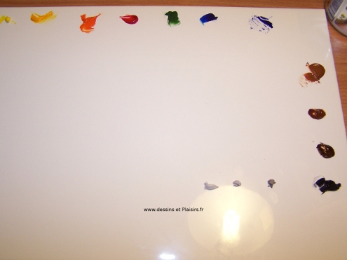 Ma palette pour la peinture l 39 huile dessins plaisirs for Peindre palette