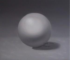 Peinture d'une sphère