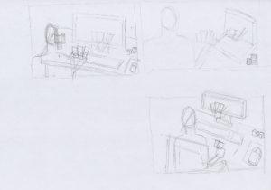 petits dessins préparatoires