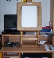 mon bureau et chevalet de table