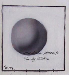 essai peinture d'une sphère