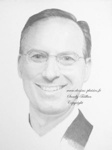 dessin au crayon graphite du portrait de paul, phase 5
