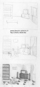 Vignettes au crayon graphite