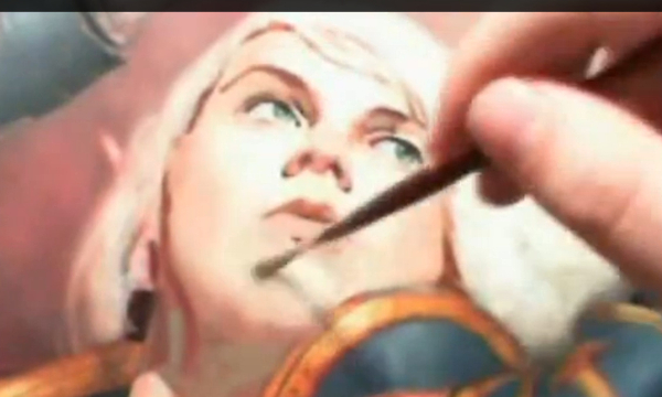 Pinceau pour fondre la peinture