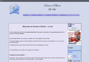 Capture d'écran de mon nouveau site