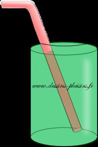 dessin vectoriel d'un verre