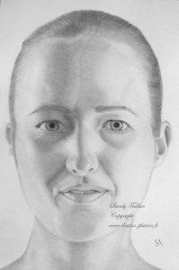 portrait de Anna au crayon graphite