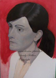 Portrait en grisaille à la peinture à l'huile