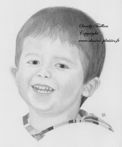 Image d'un dessin d'un petit garçon, pierre