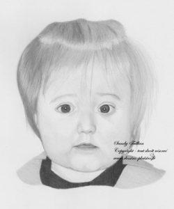 Dessin d'un portrait de petite fille