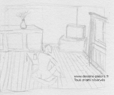Vignette au crayon