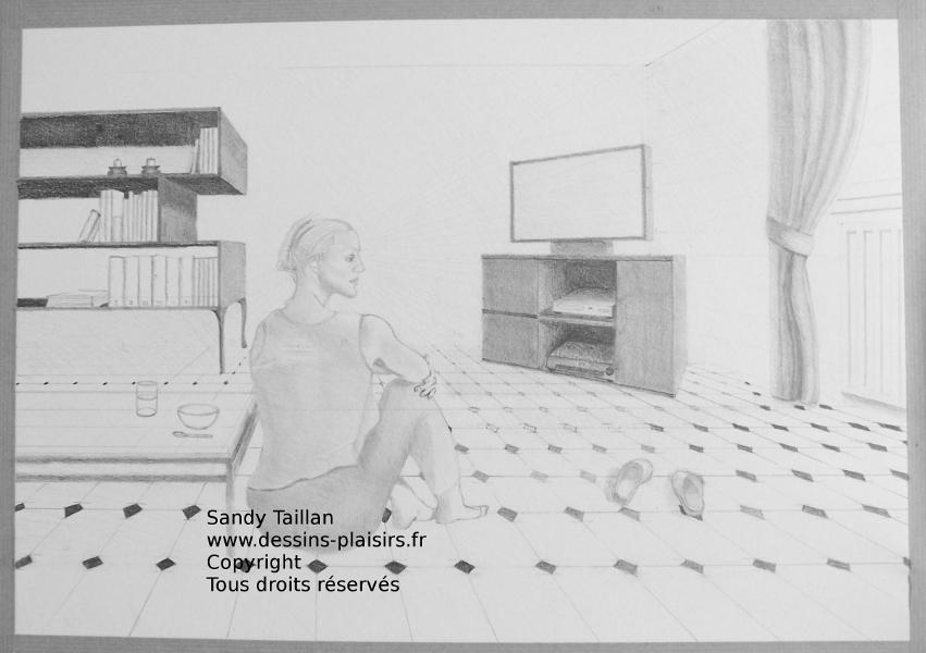 Illustration de la femme pensive
