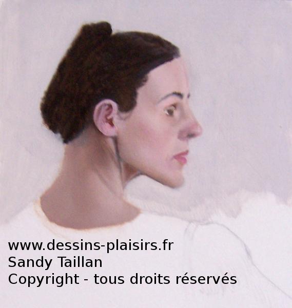 Photo d'une étude à la peinture à l'huile